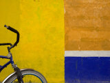Bicycle Waits for its Owner on a Cozumel Side Street, Mexico Photographic Print by Michael S. Lewis