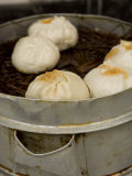Chinese Dumplings for Sale on the Street in Jingzhou, China Photographic Print by David Evans