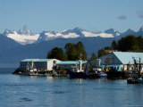 Devils Thumb and the Coast Range, The Scenic Fishing Port of Petersburg, Alaska Photographic Print by Ralph Lee Hopkins