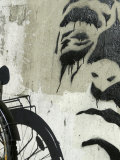 Graffiti on Wall with Bicycle, Copenhagen, Denmark Photographic Print by  Brimberg & Coulson