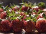 Close-Up of First Batch of Ripe Strawberries in Spring, California Photographic Print by Rich Reid