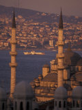 Golden Horn at Sunset from Suleymaniye Mosque Complex, Istanbul, Turkey Photographic Print by Richard Nowitz