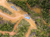 Industrial Logging Operation is Deforesting This Virgin Rain Forest, Madagascar Fotografisk tryk af Michael Fay