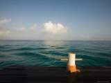 Boat Dock at the Caribe Blue Hotel South of Town, Cozumel, Mexico Photographic Print by Michael S. Lewis