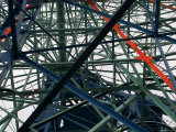 Close-Up of Ferris Wheel Mechanism, Brooklyn, New York Fotoprint van Todd Gipstein