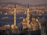 Golden Horn and Asia from the Sulemaniye Mosque Complex, Istanbul, Turkey Photographic Print by Richard Nowitz