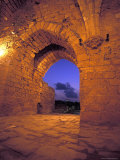 East Gate of the Crusader Fortress at Sunset in Ceasarea, Israel Photographic Print by Richard Nowitz