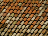 Close-Up of Terra Cotta Roof Tiles, Asolo, Italy Photographic Print by Todd Gipstein