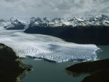 Aerial View of Three-Mile-Wide Moreno Glacier and Lago Argentino Photographic Print by James P. Blair