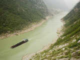 Coal Barge on the Wu River in Fuling, People's Republic of China Photographic Print by David Evans
