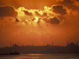 Golden Horn and Istanbul's Skyline at Sunset, Turkey Photographic Print by Richard Nowitz