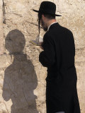 Jewish Man Prays at the Western Wall During Passover in Jerusalem, Israel Photographic Print by Richard Nowitz