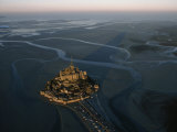 Aerial View of Mont-Saint-Michel, France Photographic Print by James L. Stanfield