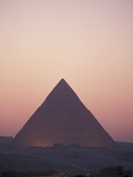 Giza Pyramids at Sunset in Egypt Photographic Print by Richard Nowitz