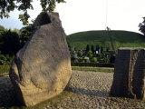 Denmark, Jellinge: the Jellinge Runestone, Set by Harald Bluetooth Photographic Print by  Brimberg & Coulson