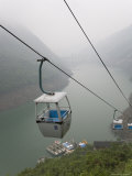 Cable Cars Take Travelers to Docks on the Yangtze River in China Photographic Print by David Evans