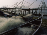 Chinese Fishing Nets along Cochin Shoreline at Low Tide Photographic Print by James L. Stanfield