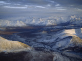 Aerial View of the Brooks Range at Twilight, Alaska Photographic Print by James P. Blair