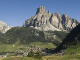 Italian Village Rimmed by Mountains in the Dolomites, Italy Photographic Print by Bill Hatcher