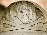 Details from Headstones in an Old Cemetery in Boston, Massachusetts Photographic Print by Tim Laman