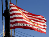 Don't Tread on Me Flag on USS Constitution, Boston, Massachusetts Photographic Print by Tim Laman