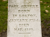 Headstone on Paul Revere's Grave, Boston, Massachusetts Photographic Print by Tim Laman