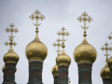 Detail of Cathedral, The Kremlin, Moscow, Russia Photographic Print by John Burcham