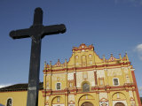 Cross and Cathedral in San Cristobal de Las Casas, Mexico Photographic Print by Gina Martin