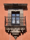 French Doors and a Wrought Iron Balcony in a Building, San Miquel de Allende, Mexico Photographic Print by David Evans