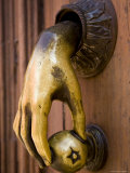 Hand Shaped Door Knocker, San Miquel de Allende, Mexico Fotografie-Druck von David Evans
