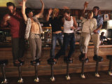 Group of People Dance on the Barstools in a Bar, Arizona Photographic Print by Dawn Kish