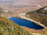 Elevated View of a Lake and Fall Colors in the White Mountains Photographic Print by Tim Laman