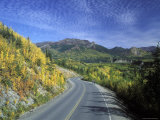 Fall Colors on the Park Road and Sugar Loaf Mountain, Alaska Photographic Print by Rich Reid