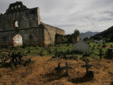 Gravesite and Mortuary in San Juan Chamula, Mexico Photographic Print by Gina Martin
