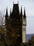 Fairytale Turret at Burg Hohenzollern Castle 1850-1867, in Bavaria Photographic Print by Jason Edwards