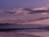 Great Salt Lake at Dusk, Utah Fotografisk tryk af Kenneth Garrett