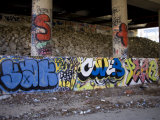 Highway Underpass Covered in Grafitti, Silver Spring, Maryland Photographic Print by Stephen St. John