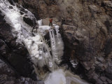 Ice Climbing in Sycamore Canyon, Az Photographic Print by Dawn Kish
