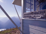 Desolation Peak Fire Lookout Cabin Sign, Washington Photographic Print by David Pluth