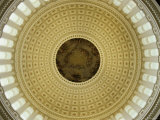 Interior of the Dome of the U.S. Capitol Building, Washington, D.C. Photographic Print by Kenneth Garrett