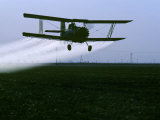Crop Duster Flies over a Field, California Photographic Print by Kenneth Garrett