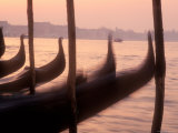 Gondolas at Sunset on the Grand Canal, Venice, Italy Photographic Print by Michael S. Lewis