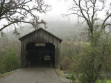 Honey Run Three-Level Covered Bridge Spanning Butte Creek, California Photographic Print by James Forte