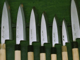 Display Case in an Aritsugu Shop Contains a Variety of Well-Honed Knives, Japan Photographic Print by James L. Stanfield