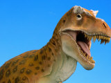 Full-Size Replica of a Tyrannosaurus Rex Photographic Print by John Eastcott & Yva Momatiuk