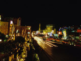 Night Scene of the Strip in Las Vegas Photographic Print by Stacy Gold