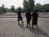 Hasidic Jews Visit a Monument in the Nazi Concentration Camp Photographic Print by James L. Stanfield