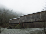 Honey Run Covered Bridge Spanning Butte Creek, Side View, California Photographic Print by James Forte