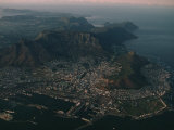 Early Morning Aerial View of Cape Town, South Africa Fotografisk tryk af James L. Stanfield