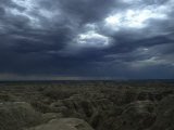 Rainy Sky over the Badlands Photographic Print by Stacy Gold